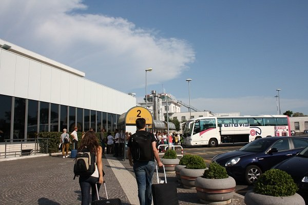 Ciampino airport outside