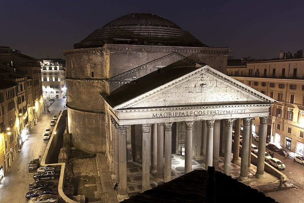 View of the Pantheon from Hotel Abruzzi