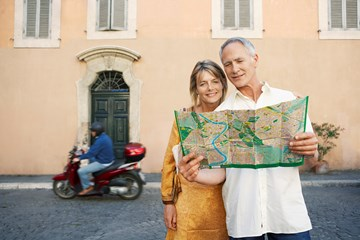 Couple Map Rome