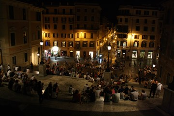 The Spanish Steps By Night
